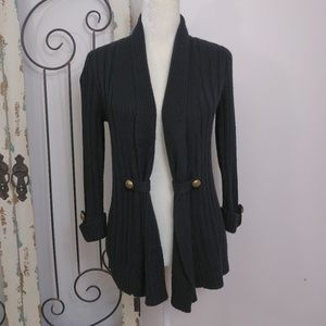 A N.A. black long sleeve open cardigan small